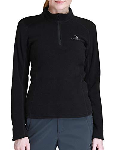 Camel Crown Mens/Womens Fleece Pullover Quarter Zip Pullover Lightweight Sweatshirt for Spring