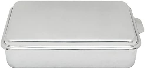 Lindy s Stainless Steel 9 X 13 Inches Covered Cake Pan, Silver