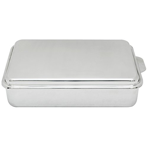 Lindys Stainless Steel 9 X 13 Inches Covered Cake Pan, Silver