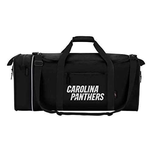 "Officially Licensed NFL Carolina Panthers ""Steal"" Duffel Bag, Blue, 28″ x 11″ x 12″"