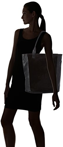 Pieces Hombro b T Suede Pctalina 14x40x35 Shoppers H black Mujer Y X Bolsos De Negro Shopper Cm 0r0Owaq