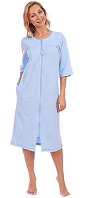 Patricia Women's Cotton Zip Front Gown Sleepwear