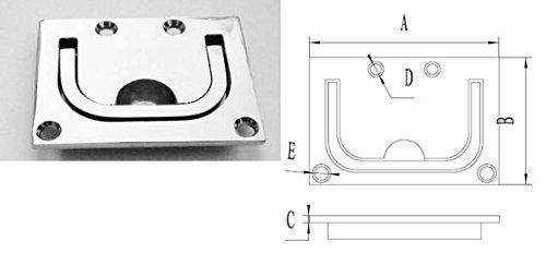 Marine Grade Stainless Steel Heavy-Duty Flush Lifting Handle, 3
