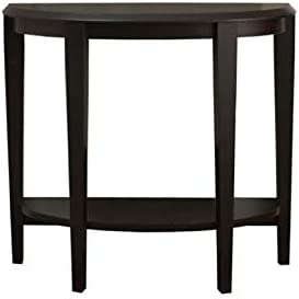 Pemberly Row 36 Console Accent Table in Cappuccino