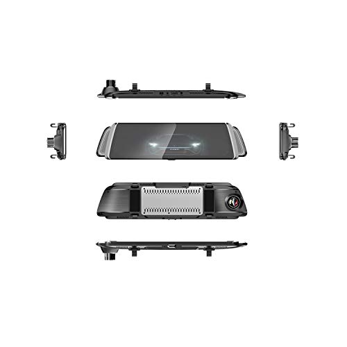 Car Dvr Mirror Android GPS Navigator 4G WiFi Adas Avto Full Hd 1080P Dual Lens Rearview Mirror Drive Video Recorder,Dual Camera Lens,None Tf Card