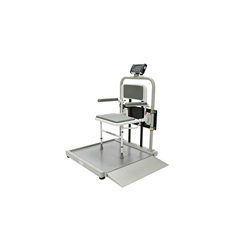 (Health O Meter 2500CKL Digital Wheelchair Scale with Foldaway Seat, EMR Connectivity Via USB, 1000 lb. Capacity)