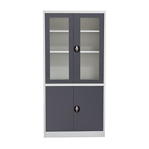 Diamond Sofa Home Furniture 4-Door 5-Shelf Bookcase With ...