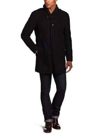 Emanuel by Emanuel Ungaro Men's Overcoat, Black, Medium