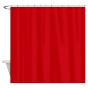 DINY Bath Elements Heavy Duty Magnetized Shower Curtain Liner Mildew Resistant Red