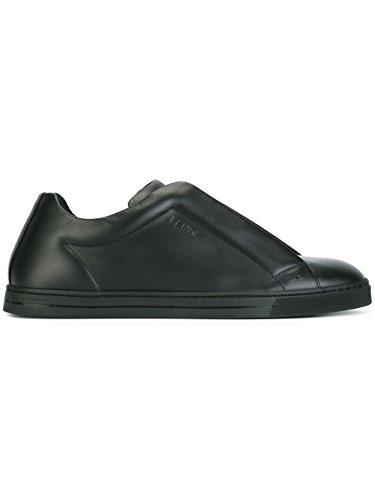 FENDI MEN'S 7E10098GN5UO BLACK LEATHER SLIP ON -