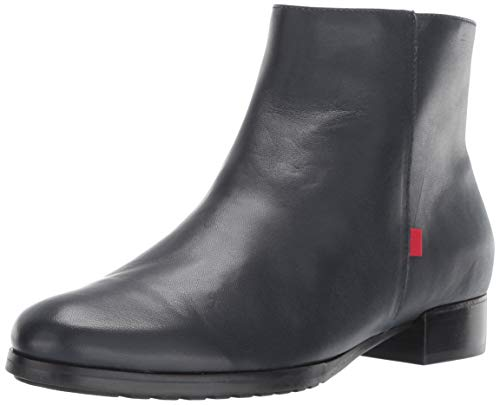 MARC JOSEPH NEW YORK Womens Leather Made in Brazil Prince Street Bootie Ankle Boot, Navy Nappa, 6 B(M) US (Shaft Leather Genuine)