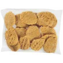 Tyson Red Label Select Cut Golden Crispy Breaded Chicken Breast Portioned Filet, 4 Ounce - 2 per case.