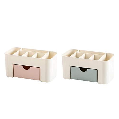 WEIWEITOE-FR Multi-Grids Practical Design Plastic Tabletop Saving Space Desktop Comestics Makeup Storage Drawer Type Box