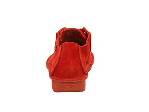 Zapatos de Suede Clarks para rojo Cordones Funny Derby de Zapatos Dream Mujer 899a30
