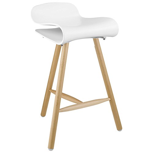 Furniture meets art, in this tri-legged barstool perfect for any modern or Scandinavian-influenced h
