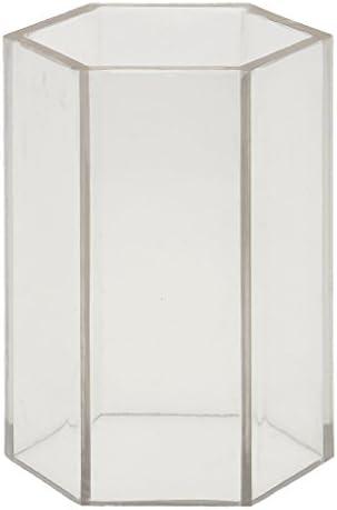 六角形のプラスチック製のキャンドル金型ホームDIYの石鹸金型工芸品のアクセサリーを作る - 5x7.5cm