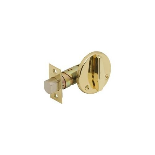 Schlage B580-605 Grade 2 Deadbolt-Door Bolt, 605 - Bright Brass, Adjustable 2-3/8 Or 2-3/4'' Backset, Non Handed, Steel; Zinc; Brass by Schlage Lock Company