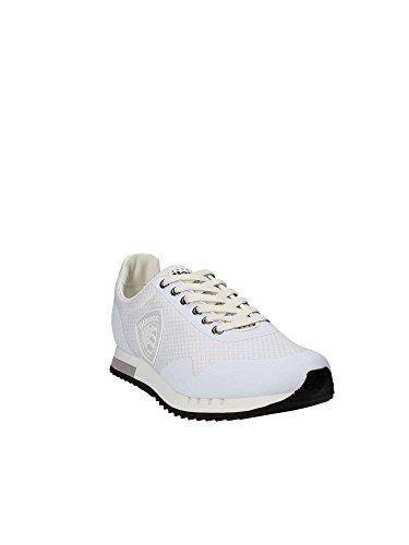 MES SHOES 8SDETROIT04 Bainco Uomo Sneakers 42 BLAUER USZwqEFxE
