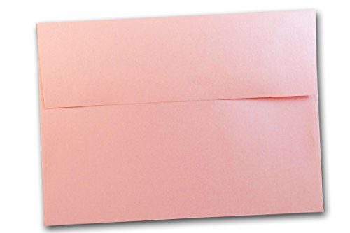 Shimmery Metallic RSVP A1 Response card envelopes - 25 pack (Rose Quartz Pink)