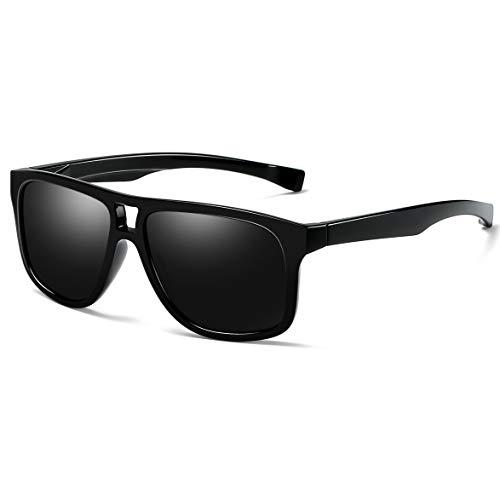 - Joopin Fashion Oversized Mens Sunglasses Polarized - 100% UV Protection Retro Sunglasses for Women E8943 (Double Bridge Black)