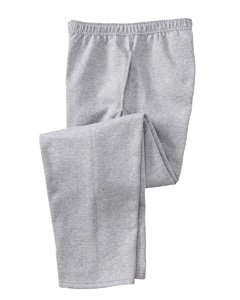 Mens Fleece Open Leg Pant - Fruit of the Loom 51300R 50/50 Fleece Pant with Mesh Pockets - Athletic Heather - Large