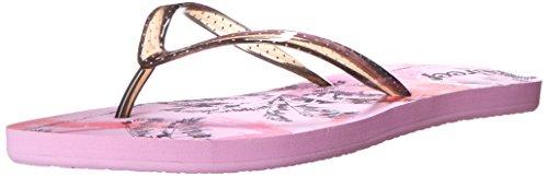 Reef Women's Stardazed Flip Flop, Pink Palms, 7 M US