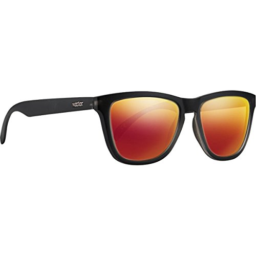 Nectar Hudson Black / Orange and Red Mirror Polarized - Sunglasses Skateboard Brands