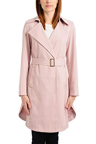 Vince Camuto Women's Belted Trench Coat Rain Jacket, Soft Dusty Pink, X-Large by Vince Camuto