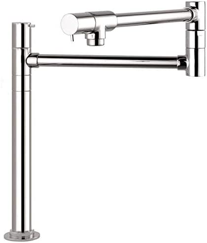 hansgrohe 04058860 Talis S 16-inch Tall 2-Handle Pot Filler with 360-Degree Swivel in Stainless Steel Optic