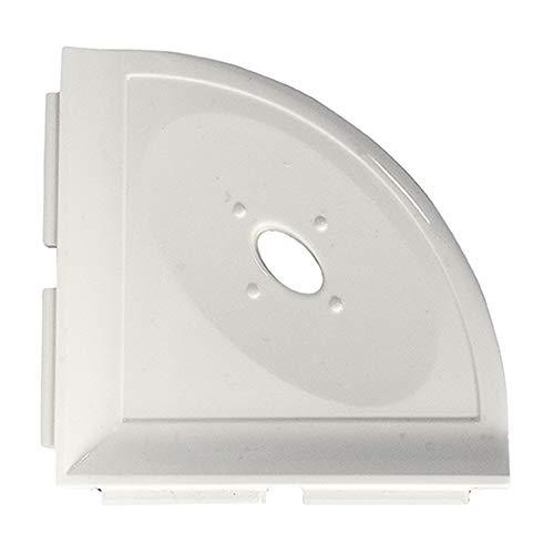 Questech 5 inch Metro Bathroom Corner Shower Shelf Soap Dish | Polished Off White Corner Ceramic Wall Tile