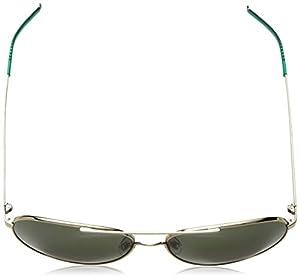 Cole Haan Men's Ch6020 Metal Aviator Sunglasses, 59 mm
