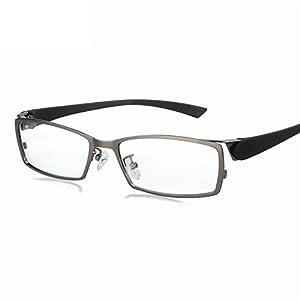 Business Leisure eyeglasses frame Titanium Alloy glasses frame Men eye frame box black Transparent Female Male,Gray,50Centimeters
