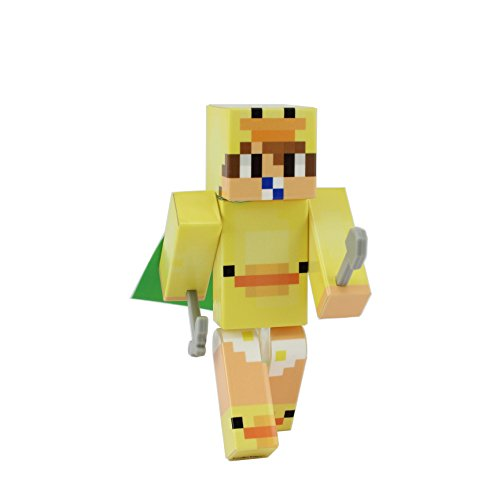 EnderToys Yellow Duck Suit Baby Action Figure Toy, 4 Inch Custom Series Figurines
