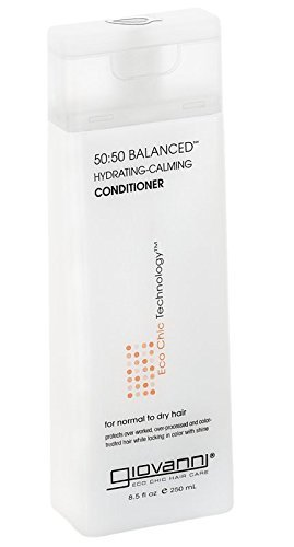 Giovanni 50:50 Balanced Hydrating-Calming Conditioner, Normal to Dry Hair, 8.5-Ounce Containers (Pack of 2)