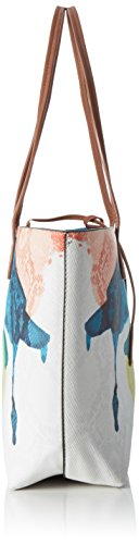 Desigual Ladies Bols_capri Watercolors Shoulder Bag Bianco (1000)