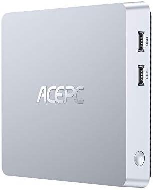 ACEPC T11 Mini PC Windows 10 Pro, 8GB DDR3/128GB eMMC Fanless Mini Computer Intel Atom Z8350 Desktop Computer Support Dual Display, 4K HD, Bluetooth 4.2, Gigabit LAN, Dual Band WiFi