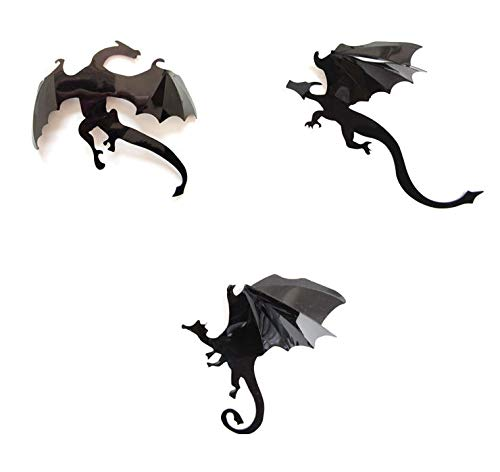 Zhuopin 14PCS 3D Gothic Dragons Wall Stickers Decal Removable Halloween Dragon Sticker DIY Wall Stickers for Party Supplies,Wall Decor,Home -