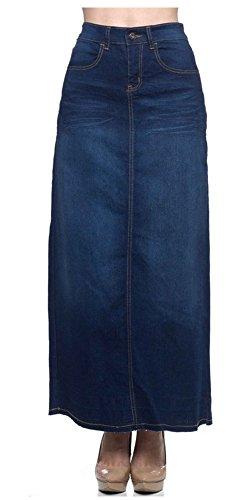 Stretch Denim Straight Skirt - 8