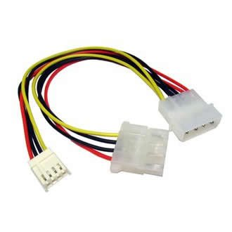 Aptii Internal Molex LP4 to Floppy Drive FDD Power Connector Cable Cable-Core