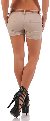 malito Hot Pant Diseño clásico pantalón cortos 5397 Mujer Beige