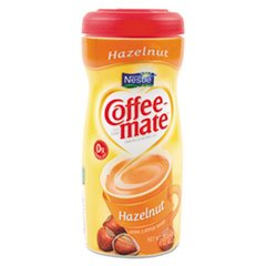 -- Non-Dairy Powdered Creamer, Hazelnut, 15 oz Canister, 12/Carton