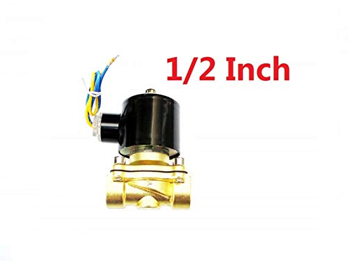Brand New 1/2 inch 12V DC Slim Brass Solenoid Valve NPS Gas Water Air Normally Closed