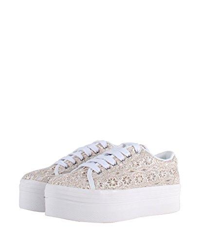 Jeffrey Campbell ZOMG LACE Grey White–Zapatos grises de encaje gris
