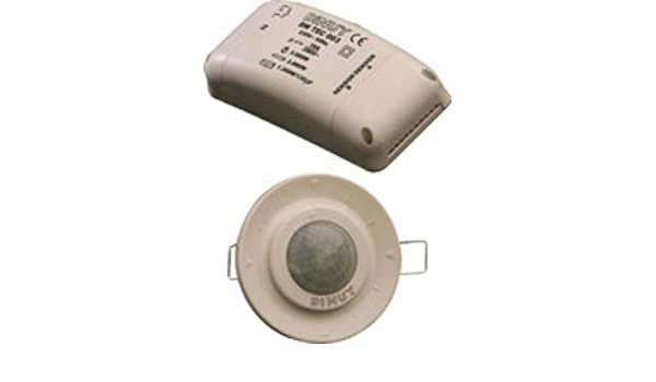 Dinuy DM.TEC.002 - Detector techo empotrar 2 canales 360 diámetro 6,6m: Amazon.es: Bricolaje y herramientas