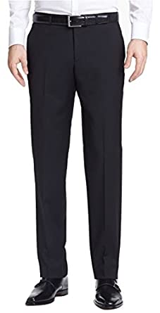 5aa47e069 Hugo Boss Aamon/Hago Black Solid Flat Front New Men's Dress Pants low-cost