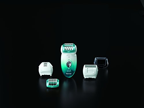 Panasonic ES-ED70-G Multi-Functional Wet/Dry Shaver and Epilator for Women, with Five Hair Removal Attachments and Travel Pouch by Panasonic (Image #8)