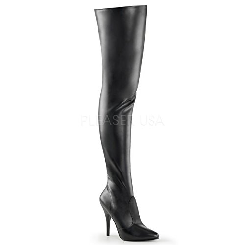 Pleaser Seduce-3010 - Sexy High Heels Overknee Stiefel 36-48, Größe:EU-40/41 / US-10 / UK-7