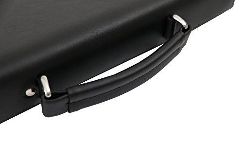 DEERLUX Men's Leather Laptop Briefcase, Black, One Size by DEERLUX (Image #6)