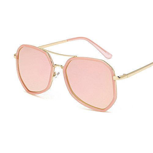BVAGSS Vintage Polarized Newest Brand Designer Women Or Men Metal Sunglasses WS021 (Pink Frame, Pink - Sunglasses Newest