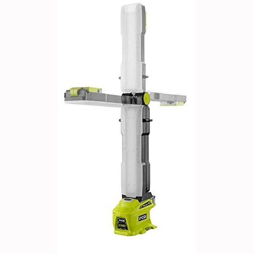 Ryobi P727 One+ 18 Volt 950 Lumen 270 Degree Rotating LED Work Light with Integrated Mounting Hooks (Battery Not Included, Light -